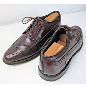Hanover Vintage Wing Tip Brown Mahogany Leather
